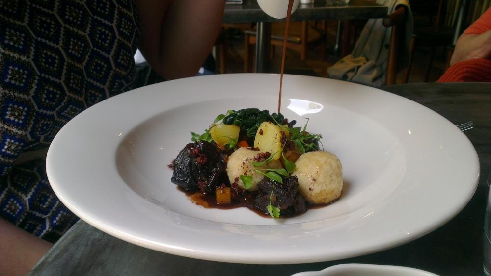 Braised Beef One Pot with Bone Marrow Dumplings